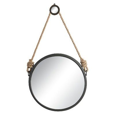 Round Decorative Wall Mirror With Rope Hanger A B Home Online On