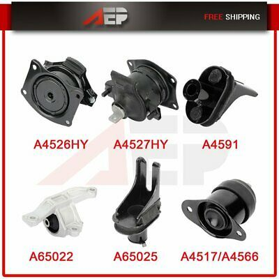M286 Motor /& Trans Mount For 08-13 Acura TSX Honda Accord 2.4L Set 5PCS For Auto