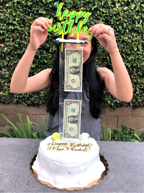 Make a money cake with Surprise Box25 or Surprise Box50! The kit offers two optional cake toppers: birthday or card holder topper. You can personalize your money cake with a compatible custom cake topper, too. Come visit our online shop!