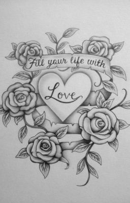 Heart Rose Drawing : heart, drawing, Crazy, Hearts, Drawings, Love,, Tattoo, Design, Drawings,
