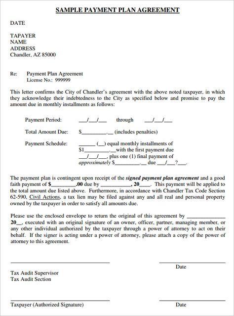 sample payment plan agreement template due arrangement landlord - domestic partnership agreement