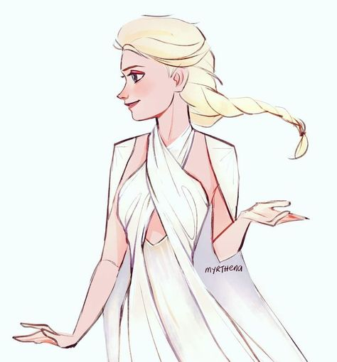"𝘼𝙩𝙝𝙚𝙣𝙖🌿 on Instagram: ""Elsa in daenerys' s5 meereen dress 🔥 swipe left for emilia clarke [ #Frozen2 #frozen #fanart #elsa #disney #disneyprincess #animation…"""