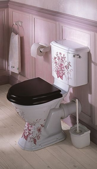 Oxford Blue Decorated Close Coupled Toilet Disenos De Unas