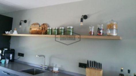 Houten Wandplank Keuken.Zwevende Boomstam Wandplank Eiken Houten Hout Boekenplank