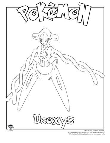 Deoxys Coloring Page Coloring Pages Pokemon Coloring Pages