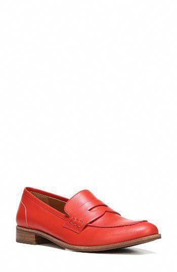 Leather shoes woman, Penny loafers