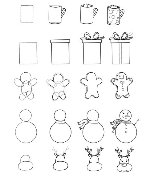Christmas Doodles for Your Bullet Journal   Free Printable Step-by-Step-Guide
