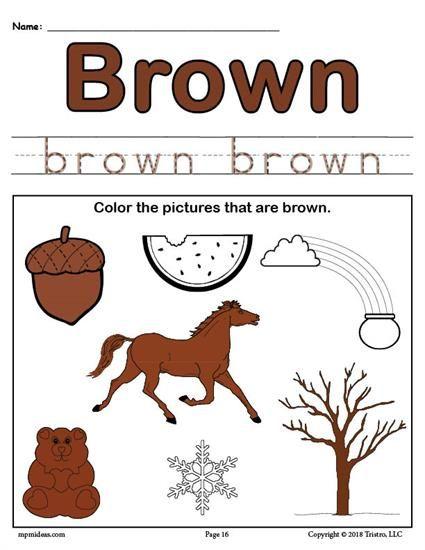 Color Brown Worksheet Color Recognition Worksheets Color Lesson Plans Preschool Colors Preschool color recognition worksheets