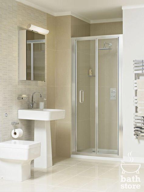 Atlas 800mm Shower Enclosure Bifold Door With Images Shower