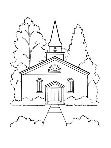 Church Coloring Page Lds Coloring Pages Family Coloring Pages