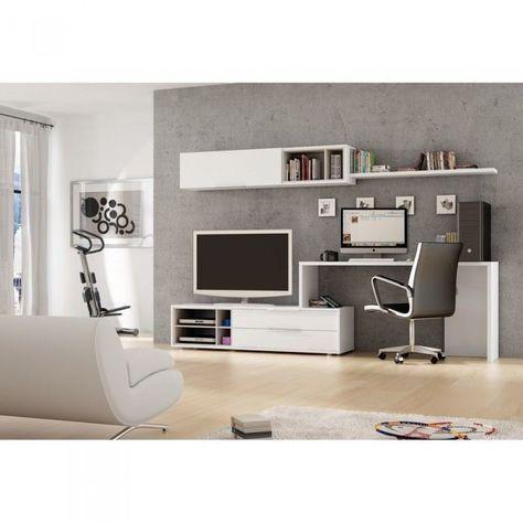 Tv Stand And Computer Desk Combo Tv Stenka Modern Stennye Shkafy Proektirovanie Intererov