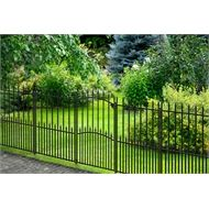 Peak 840mm Black No Dig Fencing Sheffield Gate Fence Panels Steel Fence Garden Privacy Screen
