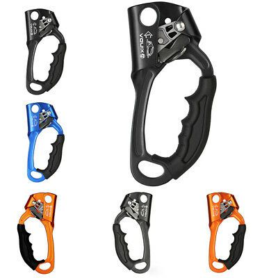 Rock Climbing Grab Fall Arrest Rope Grab Clamp Ascender For 9mm-12mm Rope
