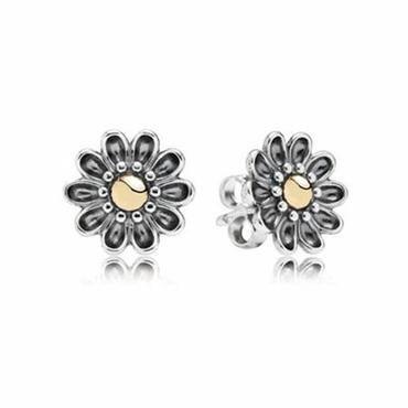 Pandora Oopsie Daisy Two-Tone Stud Earring Studs - Item 19415520 | REEDS Jewelers