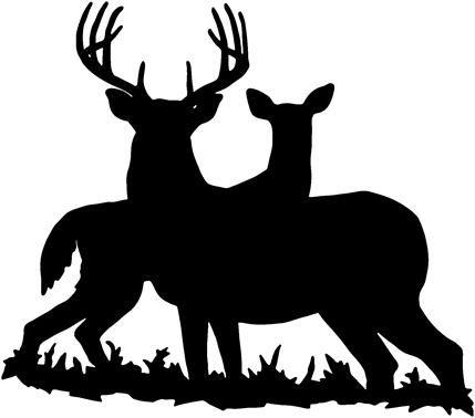 Pin By Clayton On Black N White Deer Decal Deer Silhouette Hunting Decal