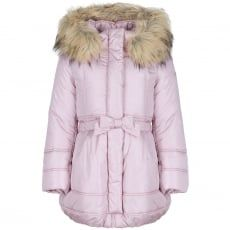2fa9584c020a Monnalisa Girls Navy Belted Puffer Coat