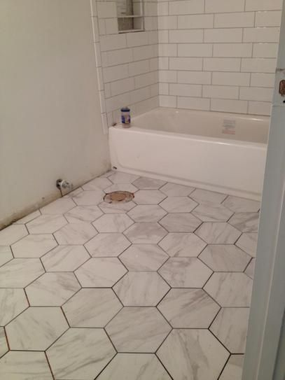 Merola Tile Eterno Carrara Hex 8 5 8 In X 9 7 8 In Porcelain Floor And Wall Tile 11 56 Sq Ft Case Fcd10cax The Home Depot Bathrooms Remodel Porcelain Flooring Small Bathroom