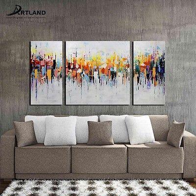 HD Canvas Art Print Wall Decor Grey Tree Oil Painting Canvas Wall Art-3pcs