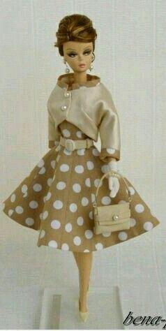 Polkha dots dress for Silkstone BArbie Doll