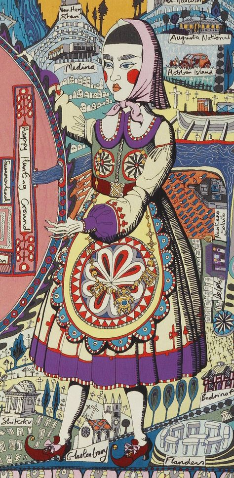 Grayson Perry, Map of Truths and Beliefs (detail)