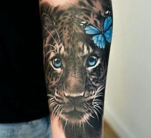 Wild Cat Tattoo By Stefanie Leopard Tattoos Animal Tattoos Tattoos