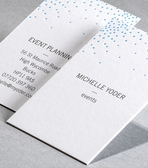 Letterpress Business Card Designs Deco Dots Moo
