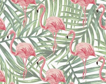 Flamingo Wrapping Paper Sheet Flamingo Palm Leaf Gift Wrap