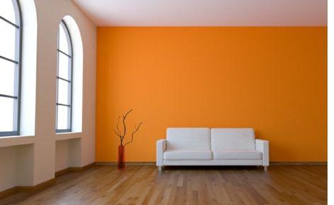 wände streichen ? ideen für das wohnzimmer - wand farbe streichen ... - Wohnzimmer Orange Weis