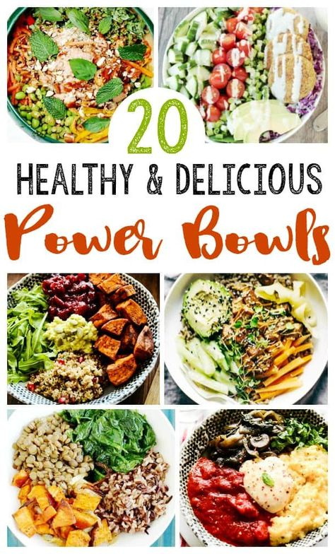 20 EASY Healthy Power Bowls- EASY clean eating recipes Healthy power bowl recipes to get you through your day! Easy clean eating recipes -full of antioxidants, vitamins and other BENEFITS – raw food diet Easy Clean Eating Recipes, Clean Eating Diet, Raw Food Recipes, High Protein Vegetarian Recipes, Clean Eating Lunches, Yummy Healthy Food, Clean Meals, Eating Raw, Healthy Eating Recipes