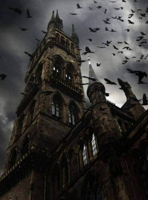 """Raven Spires, Glasgow, Scotland """"Is that Edinburgh Castle? I'm from Glasgow! The Places Youll Go, Places To Visit, Haunted Images, Glasgow Scotland, Scotland Travel, Scotland Uk, Edinburgh, Gothic Architecture, Gothic Buildings"""