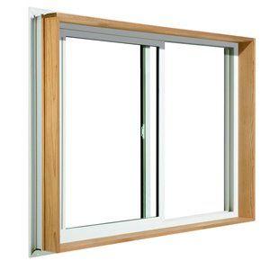 Jeld Wen 36 In X 24 In Wood Buck Low E Argon Double Pane Vinyl Sliding Window Vinyl Sliding Windows Sliding Windows Porch Windows