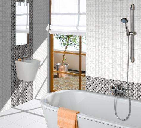 New Designs of Orient Bathroom Tiles - http://www.orientbell.com/bathroom-tiles.php