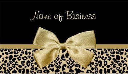 112 best girly animal print business cards images on pinterest glamor black and gold leopard print gold ribbon business cards http colourmoves Images