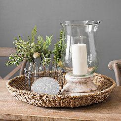 Seagrass Round Decorative Tray Table Centerpieces For Home Coffee Table Centerpieces Coffee Table Decor Tray