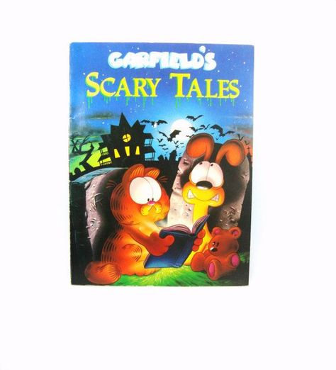 Garfield's Scary Tales ~ Vintage Halloween Book on Etsy, $7.52 #vintage halloween books Items similar to Garfield's Scary Tales ~ Vintage Halloween Book on Etsy