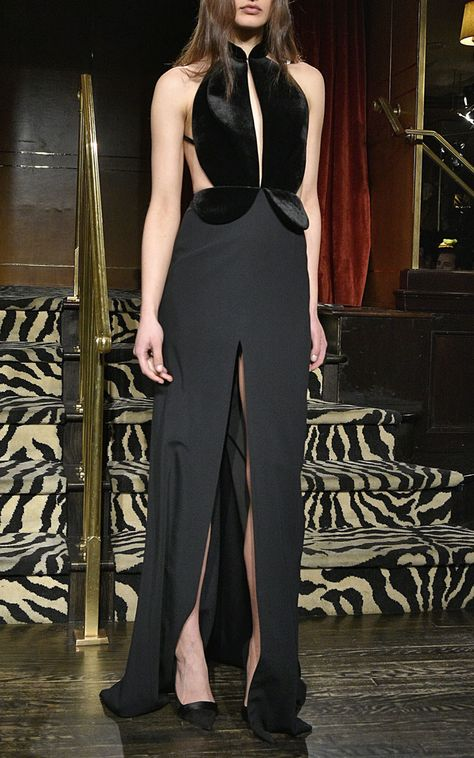 Brandon Maxwell Black Suiting Cady Velvet Tuxedo Gown Product 0 512937568 Normal Jpeg 750 1200 With Images Fashion Brandon Maxwell Style Inspiration