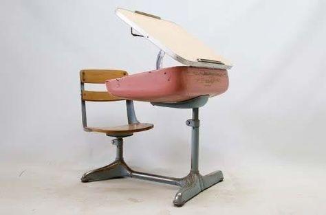 Vintage School Desk by Norman Bel Geddes