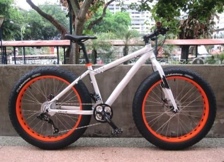 Captain Francis With His Bamboo Fat Bike Bike X Singapore