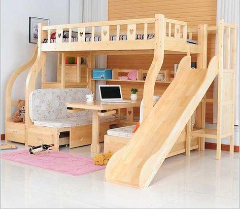 Enfants Lits multi-fonction environnementale enfants lit superposé en bois lits avec un bureau d'étude tiroir diapositives Enfants lit de la boutique en ligne | AliExpress mobile