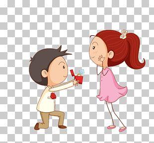 Invitacion De Boda Fiesta De Compromiso De Propuesta De Matrimonio Pareja De Dibujos Animados Nino Que Muestra El Anillo Dentro D Clip Art Chibi Couple Chibi