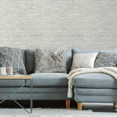 Roommates Grasscloth Peel Stick Wallpaper Gray Grasscloth Peel And Stick Wallpaper Textured Wallpaper