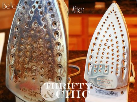 How to clean an iron with vinegar. Takes just a couple of minutes!