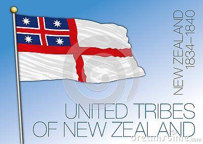 New Zealand Historical Flag United Tribes Of New Zealand Vector Illustration 1834 1840 Banderas Del Mundo Banderas Geografia