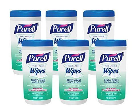 Purell Hand Sanitizing Wipes Fragrance Free 40 Count Sanitizing