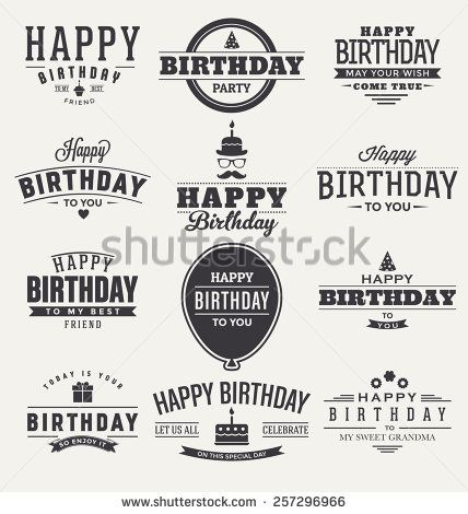 Happy Birthday Label Stock Photos, Images, & Pictures | Shutterstock