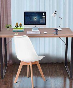 Tangkula Writing Table Computer Desk Writing Desk Simple Modern Wood Pc Laptop Table Study Table Sturdy Durable Computer Des Wood Computer Desk Desk Pc Desk