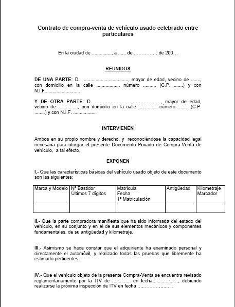 Contrato De Compra Venta De Vehículo Usado Celebrado Entre Particulares Venta De Vehiculos Usados Venta De Vehiculos Contrato De Compraventa
