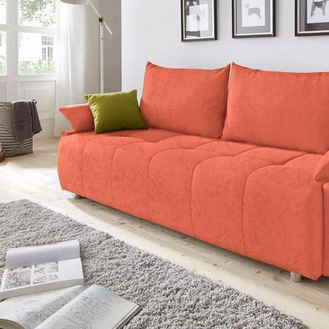 Collection Ab Schlafsofa Orange Microfaser In 2020 Home Decor