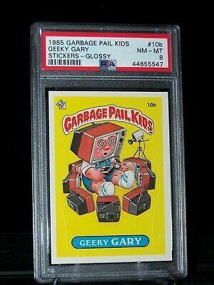 1985 Topps Garbage Pail Kids 10b Geeky Gary Glossy Psa 8 Nm Mt Gpk Os1 In 2020 Garbage Pail Kids Pail Kids Stickers