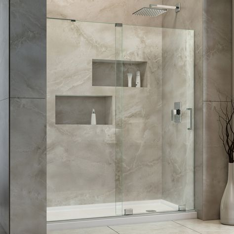 Dreamline SHDR-1948723L-01 Mirage-X Chrome Shower Doors | eFaucets.com